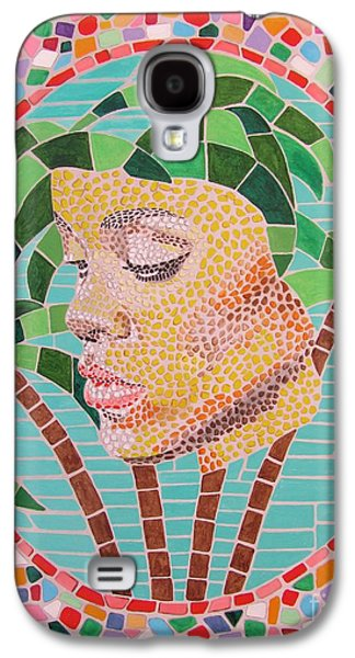 Rihanna Portrait Painting In Mosaic  Galaxy S4 Case by Jeepee Aero