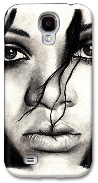 Rihanna Galaxy S4 Cases - Rihanna Galaxy S4 Case by Rosalinda Markle