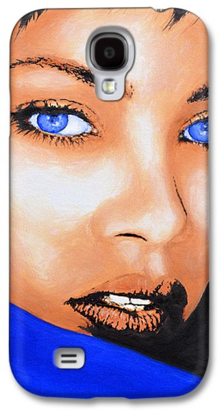 Rihanna Paintings Galaxy S4 Cases - Rihanna Galaxy S4 Case by Victor Minca