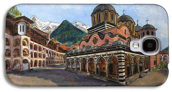 Orthodox Paintings Galaxy S4 Cases - Rila Monastery  Bulgaria Galaxy S4 Case by Henrieta Maneva