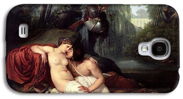 Jerusalem Paintings Galaxy S4 Cases - Rinaldo and Amida Galaxy S4 Case by Francesco Hayez