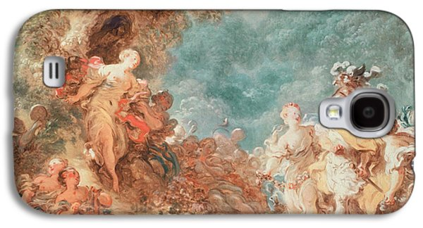 First Love Galaxy S4 Cases - Rinaldo in the garden of the palace of Armida Galaxy S4 Case by Jean-Honore Fragonard