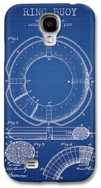 Saving Galaxy S4 Cases - Ring Buoy Patent from 1909 - Blueprint Galaxy S4 Case by Aged Pixel