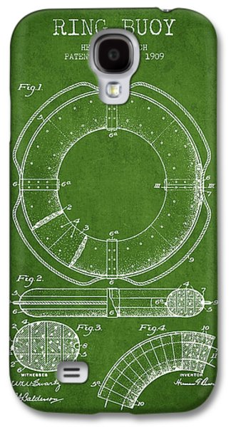 Saving Galaxy S4 Cases - Ring Buoy Patent from 1909 - Green Galaxy S4 Case by Aged Pixel