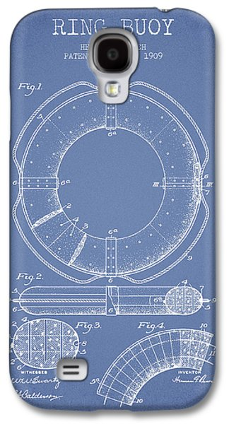 Saving Galaxy S4 Cases - Ring Buoy Patent from 1909 - Light Blue Galaxy S4 Case by Aged Pixel