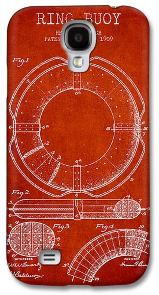 Saving Galaxy S4 Cases - Ring Buoy Patent from 1909 - Red Galaxy S4 Case by Aged Pixel