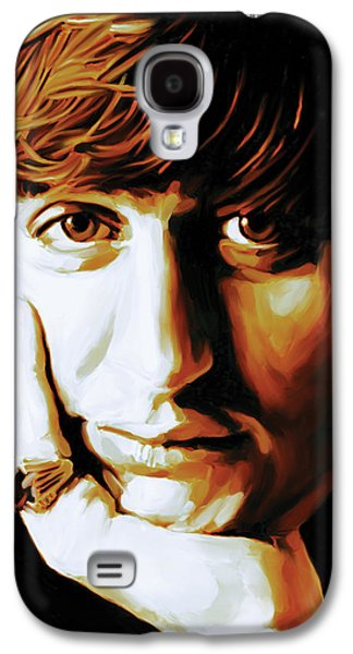 Ringo Starr Galaxy S4 Cases - Ringo Starr Artwork Galaxy S4 Case by Sheraz A