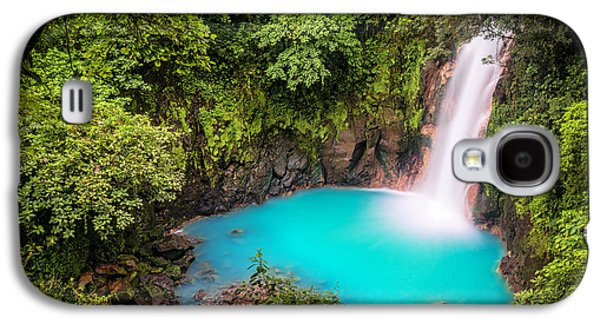 Environmental Galaxy S4 Cases - Rio Celeste Waterfall Galaxy S4 Case by Andres Leon