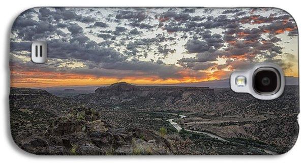 Tourism Galaxy S4 Cases - Rio Grande River Sunrise 2 - White Rock New Mexico Galaxy S4 Case by Brian Harig