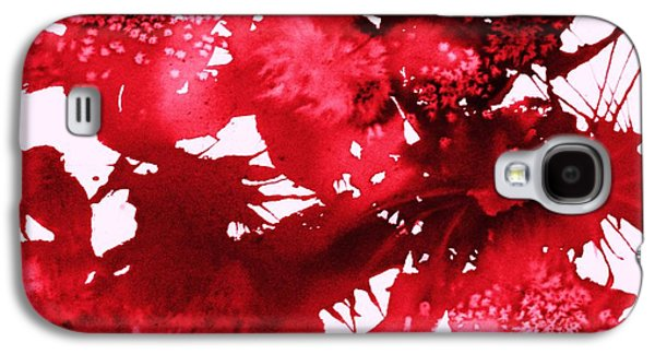 Splashy Art Galaxy S4 Cases - Riot of Red Abstract Galaxy S4 Case by Ellen Levinson
