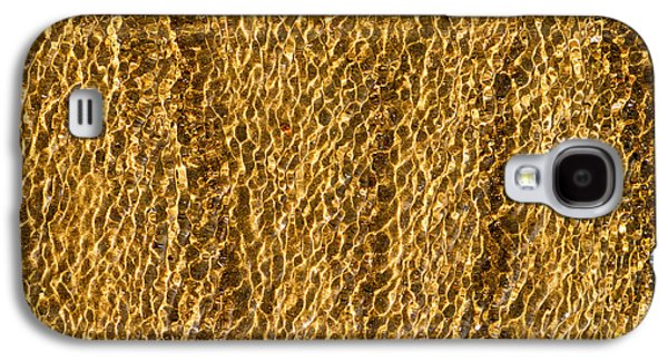 Reflecting Water Galaxy S4 Cases - Golden Ripples Galaxy S4 Case by Wim Lanclus