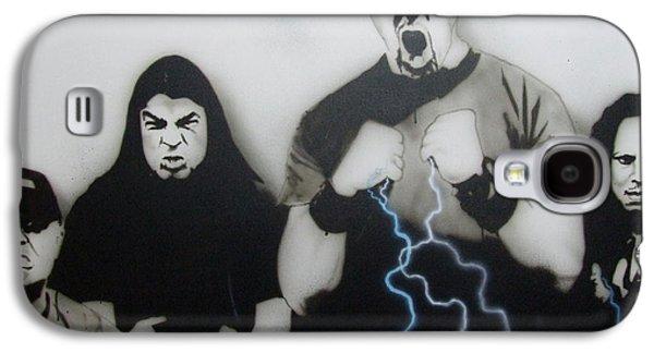 Metallica Galaxy S4 Cases - Rising Metallic Storm Galaxy S4 Case by Christian Chapman Art