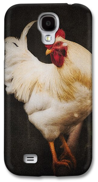 Barn Yard Galaxy S4 Cases - Ritas Rooster Galaxy S4 Case by Ron  McGinnis