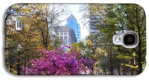 Phillies Digital Galaxy S4 Cases - Rittenhouse Square in Springtime Galaxy S4 Case by Bill Cannon