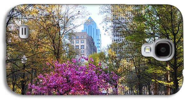 Rittenhouse Square In Springtime Galaxy S4 Case by Bill Cannon