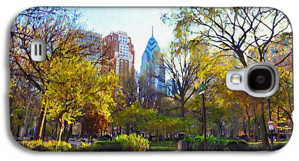 Phila Galaxy S4 Cases - Rittenhouse Square in the Spring Galaxy S4 Case by Bill Cannon