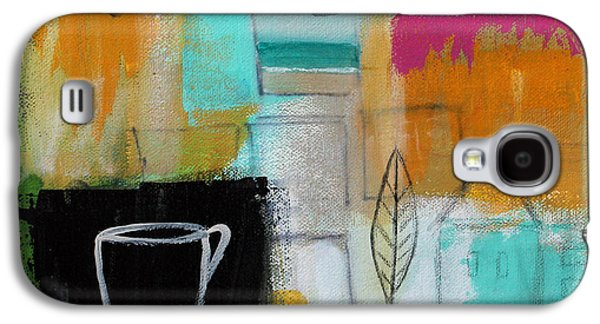 Abstracted Galaxy S4 Cases - Rituals- Contemporary Abstract Painting Galaxy S4 Case by Linda Woods