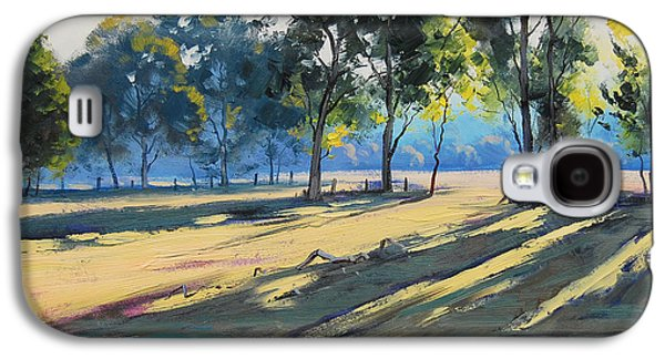 Beautiful Creek Paintings Galaxy S4 Cases - River bank shadows Tumut Galaxy S4 Case by Graham Gercken