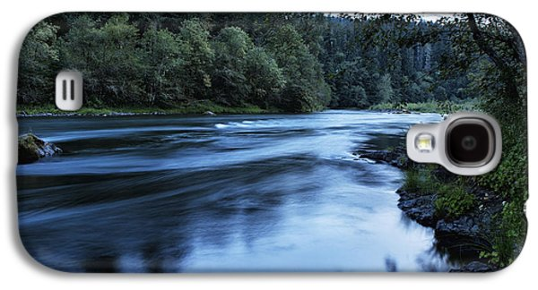 Contemplative Photographs Galaxy S4 Cases - River Blue Galaxy S4 Case by Belinda Greb