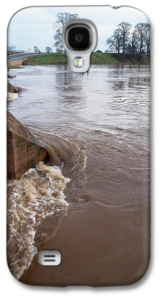 River Eden Flooding. Galaxy S4 Case by Mark Williamson