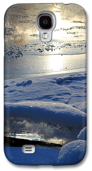 Reflections In Water Galaxy S4 Cases - River Ice Galaxy S4 Case by Hanne Lore Koehler
