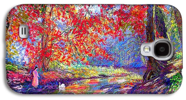 River Of Life, Colors Of Fall Galaxy S4 Case by Jane Small