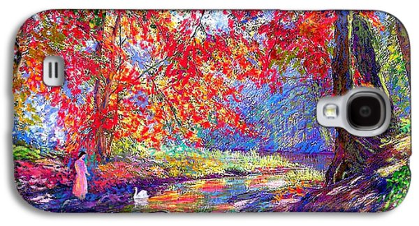 Park Scene Galaxy S4 Cases - River of Life Galaxy S4 Case by Jane Small
