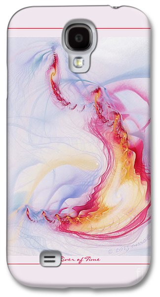 Fractal Pastels Galaxy S4 Cases - River of Time Galaxy S4 Case by Gayle Odsather