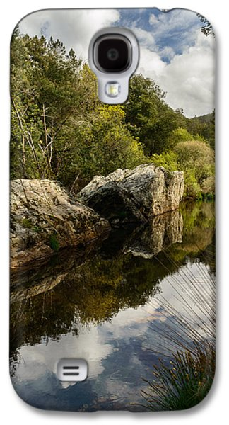 Trees Reflecting In Creek Galaxy S4 Cases - River Reflections II Galaxy S4 Case by Marco Oliveira