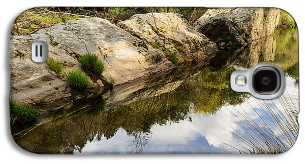 Trees Reflecting In Creek Galaxy S4 Cases - River Reflections III Galaxy S4 Case by Marco Oliveira