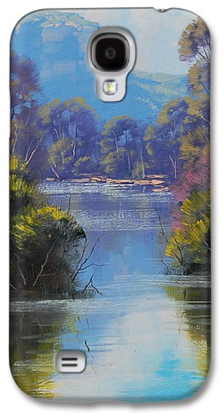 Beautiful Creek Paintings Galaxy S4 Cases - River Reflections Megalong creek Galaxy S4 Case by Graham Gercken