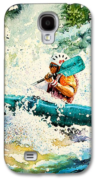 Canadian Sports Paintings Galaxy S4 Cases - River Rocket Galaxy S4 Case by Hanne Lore Koehler