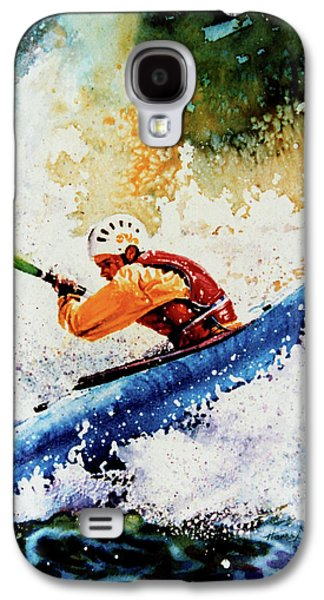 Sports Artist Galaxy S4 Cases - River Rush Galaxy S4 Case by Hanne Lore Koehler