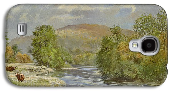 River Scenes Photographs Galaxy S4 Cases - River Spey, Kinrara, 1989 Wc Galaxy S4 Case by Tim Scott Bolton