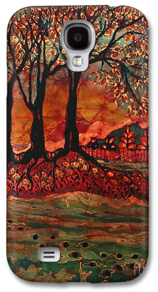 Autumn Landscape Tapestries - Textiles Galaxy S4 Cases - River Sunrise - Lothlorien Galaxy S4 Case by Carol Law Conklin