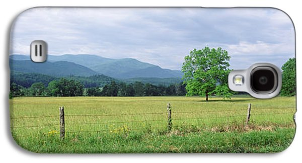 Tennessee Landmark Galaxy S4 Cases - Road Along A Grass Field, Cades Cove Galaxy S4 Case by Panoramic Images