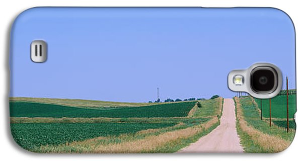 Telephone Poles Galaxy S4 Cases - Road Along Fields, Minnesota, Usa Galaxy S4 Case by Panoramic Images