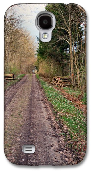 Asbjorn Lonvig Digital Art Galaxy S4 Cases - Road in Stakrode Forest Galaxy S4 Case by Asbjorn Lonvig
