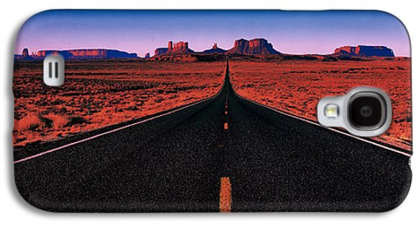 Black Top Galaxy S4 Cases - Road Monument Valley Tribal Park Ut Usa Galaxy S4 Case by Panoramic Images