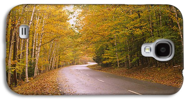 Maine Roads Galaxy S4 Cases - Road Passing Through A Forest, Park Galaxy S4 Case by Panoramic Images