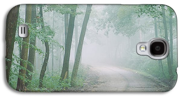 Indiana Scenes Galaxy S4 Cases - Road Passing Through A Forest, Skyline Galaxy S4 Case by Panoramic Images