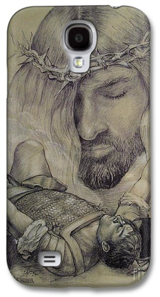 Jesus Pastels Galaxy S4 Cases - Road To Damascus Galaxy S4 Case by Craig Green
