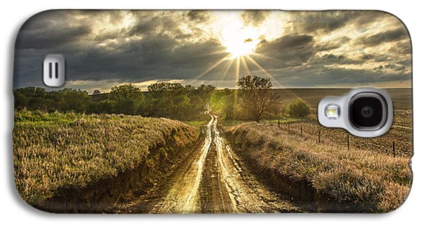 Sun Galaxy S4 Cases - Road to Nowhere Galaxy S4 Case by Aaron J Groen