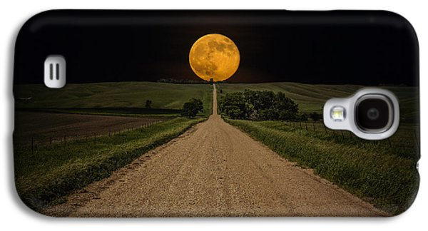 Road To Nowhere - Supermoon Galaxy S4 Case by Aaron J Groen