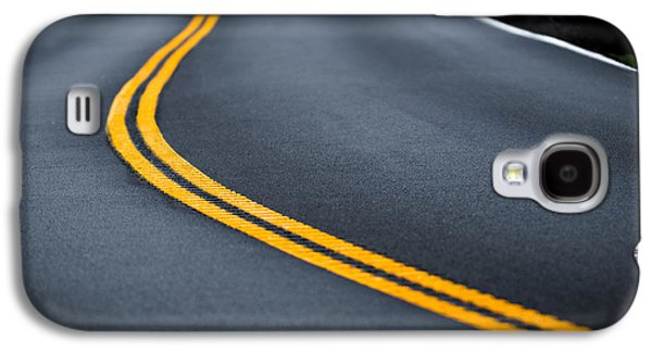 Yellow Line Galaxy S4 Cases - Road Work Galaxy S4 Case by Joseph Smith