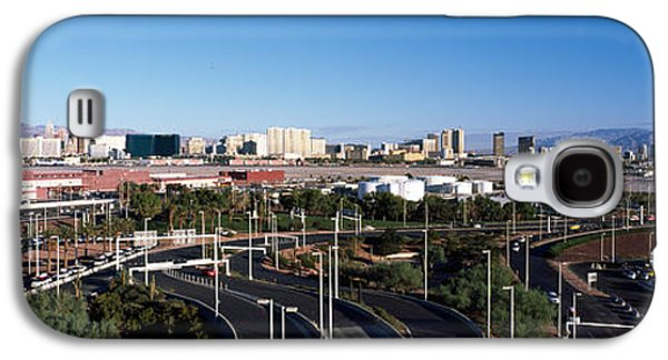 Built Structure Photographs Galaxy S4 Cases - Roads In A City With An Airport Galaxy S4 Case by Panoramic Images