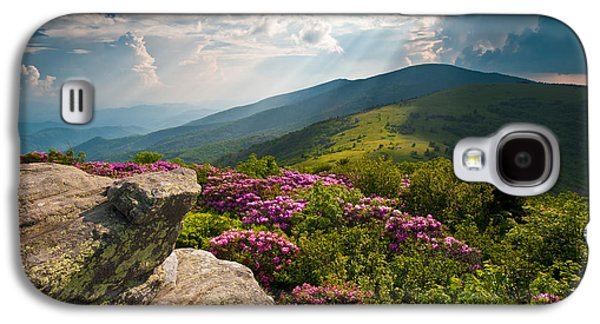 Sunbeams Galaxy S4 Cases - Roan Mountain from Appalachian Trail near Janes Bald Galaxy S4 Case by Dave Allen