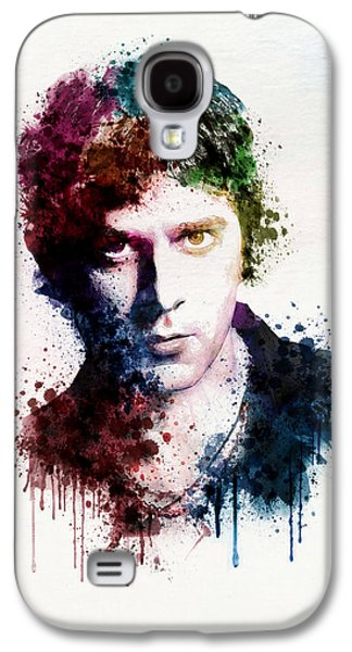"""""""square """" Mixed Media Galaxy S4 Cases - Rob Thomas watercolor portrait Galaxy S4 Case by Marian Voicu"""