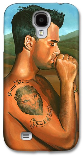Robbie Williams Angels Painting Galaxy S4 Case by Paul Meijering