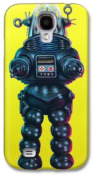 Science Fiction Pastels Galaxy S4 Cases - Robby the Robot Galaxy S4 Case by Brent Andrew Doty
